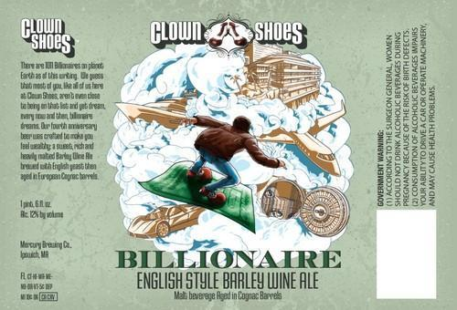 Clown Shoes Billionaire Barley Wine Aged in Cognac Barrels