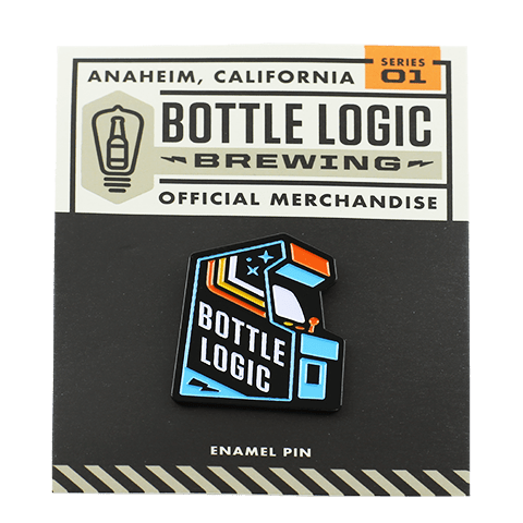 Bottle Logic Arcade Pin (Blue)