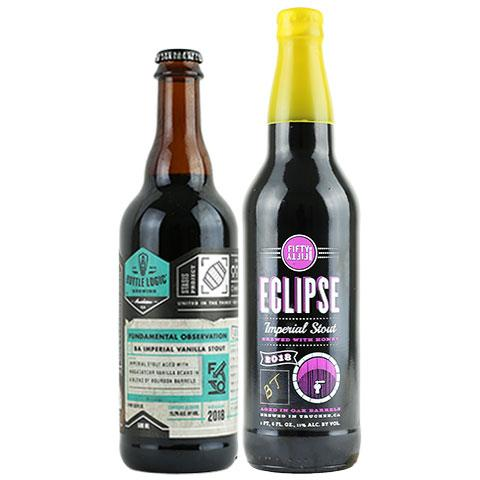 Bottle Logic Fundamental Observation / Eclipse Buffalo Trace Imperial Stout 2 Pack