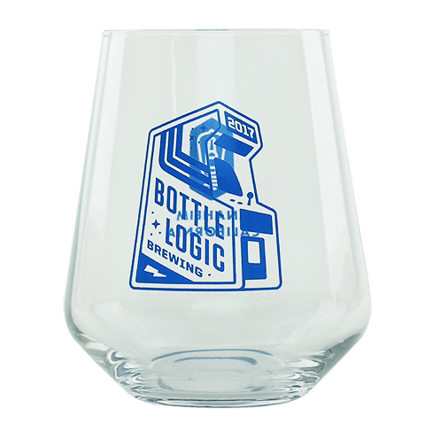 Bottle Logic Stemless Teku Glass (Blue)