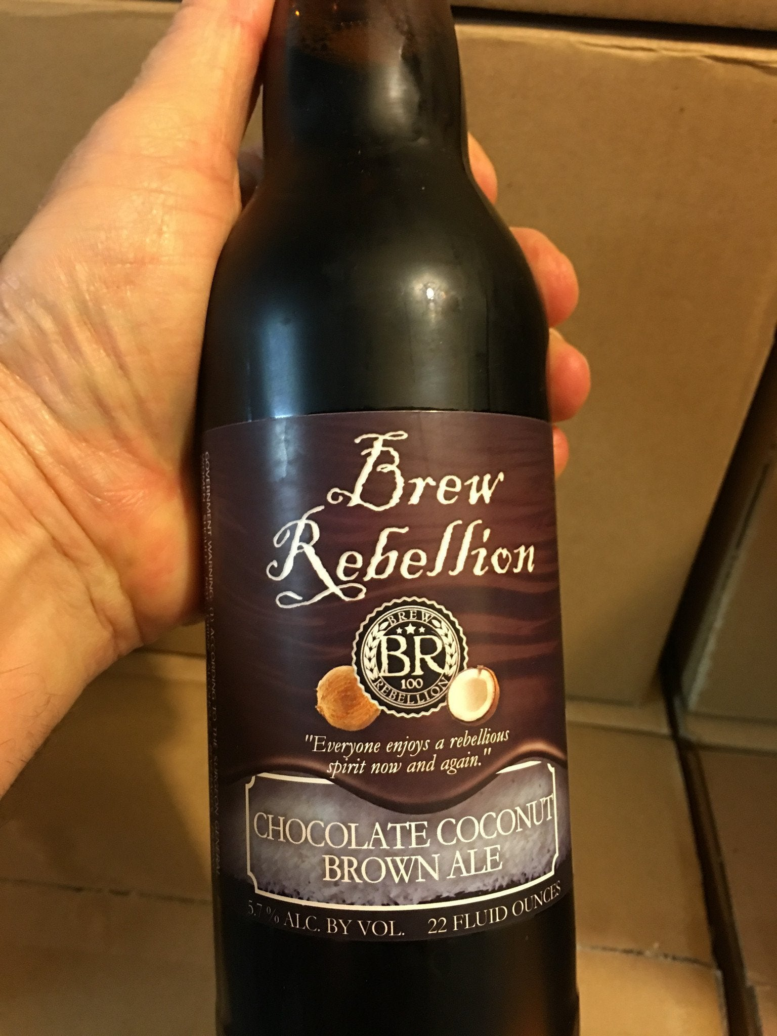 Brew Rebellion Chocolate Coconut Brown Ale