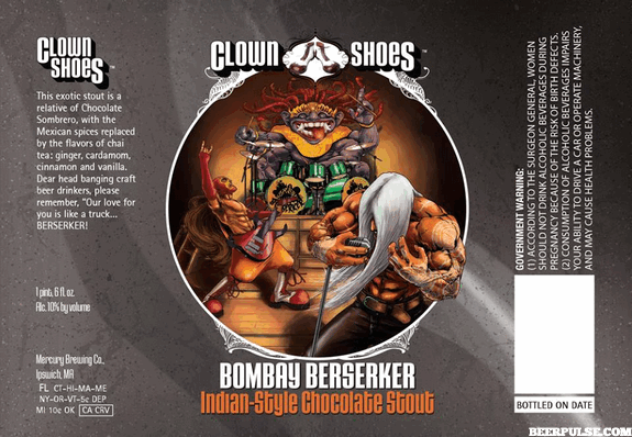 Clown Shoes Bombay Berserker Indian Chocolate Imperial Stout