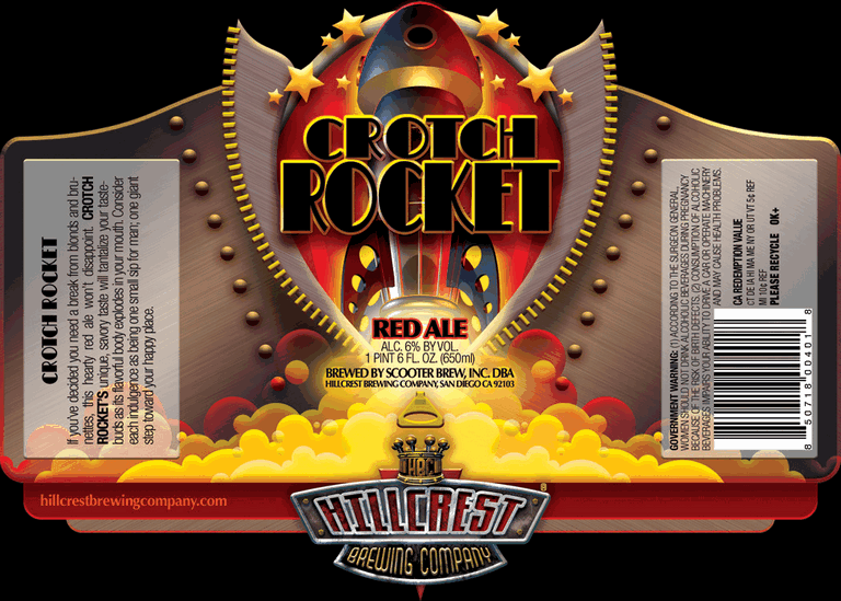 Hillcrest Crotch Rocket Red Ale