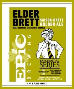 Epic Crooked Stave Elder Brett Saison-Brett Golden Ale
