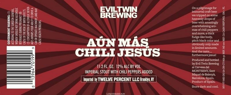 Evil Twin Aun Mas Chili Jesus Imperial Stout / Mosaic Single Hop IPL 2PK