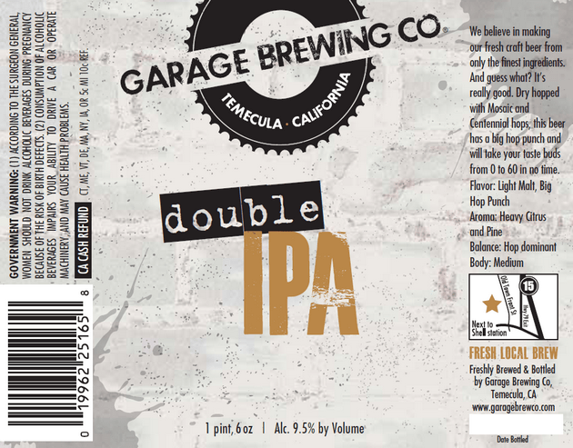 Garage Double IPA
