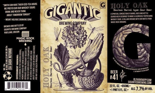 Gigantic / Magic Rock Holy Oak Bourbon Barrel Aged Whiskey Sour