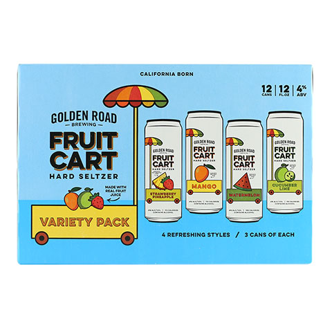 Golden Road Fruit Cart Hard Seltzer Variety Pack