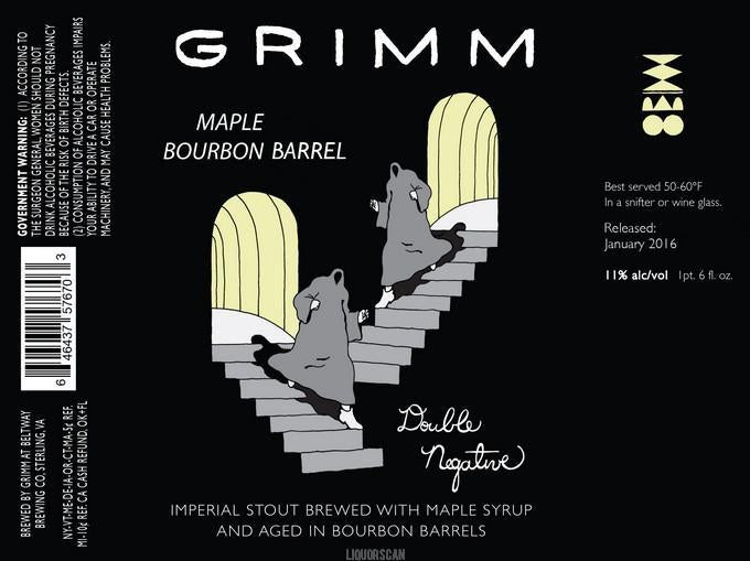 Grimm Maple Bourbon Barrel Double Negative