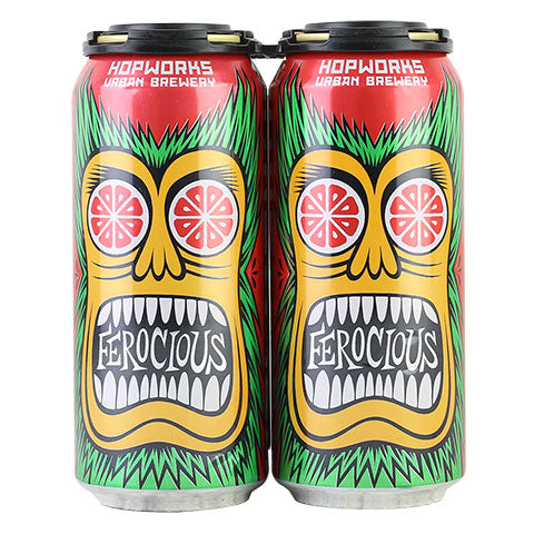 Hopworks Urban Brewery Ferocious Citrus Blood Orange IPA ...