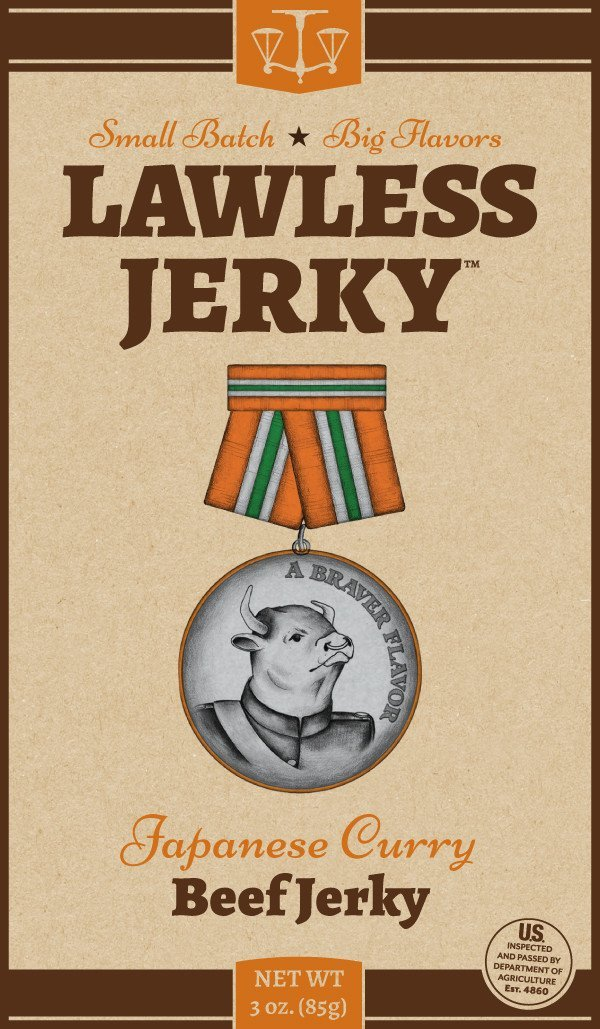 Lawless Japanese Curry Beef Jerky