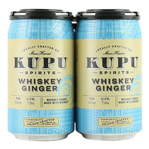 Kupu Spirits Whiskey Ginger