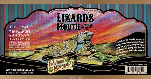 Figueroa Lizard's Mouth Imperial IPA (bottled 7-20-16)