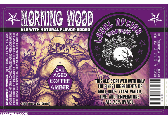 Local Option Morning Wood Oak Aged Coffee Amber Ale