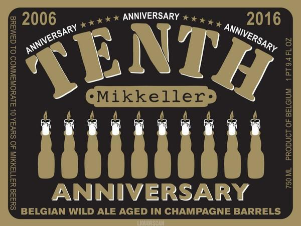 Mikkeller Tenth Anniversary Belgian Wild Ale Aged in Champagne Barrels