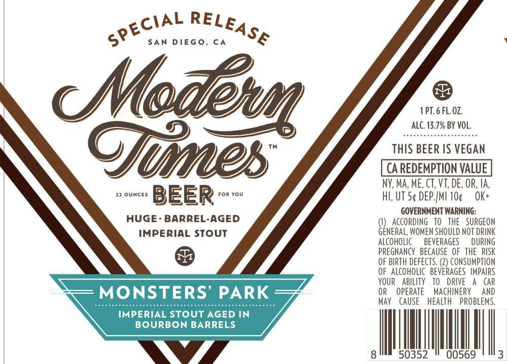 Modern Times Bourbon Barrel Aged Monsters' Park
