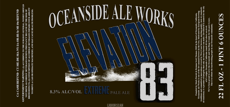 Oceanside Ale Works Elevation 83 Strong Pale Ale