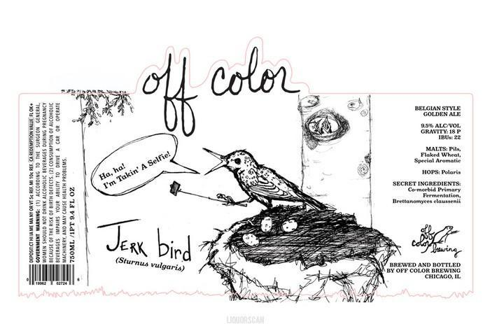 Off Color Jerk Bird Belgian Golden Ale with Brettanomyces