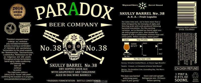 Paradox Skully Barrel No. 38