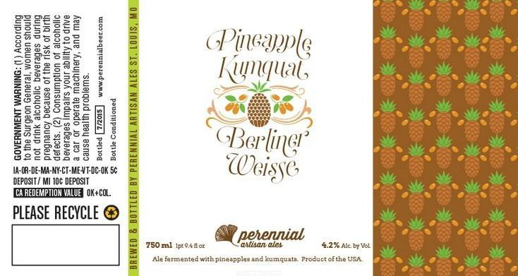 Perennial Pineapple Kumquat Berliner Weisse