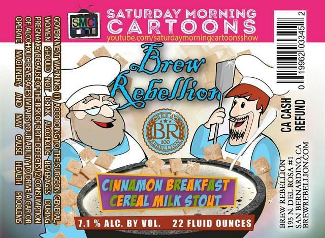 Brew Rebellion Cinnamon Breakfast Cereal Milk Stout