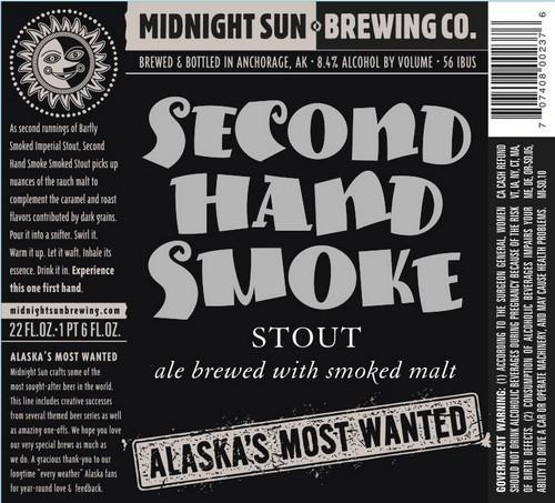 Midnight Sun Second Hand Smoke Imperial Stout