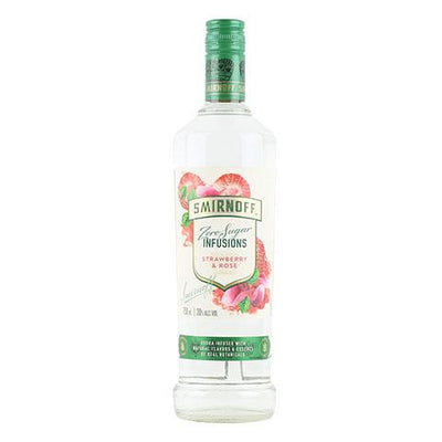 Smirnoff Zero Sugar Infusions Strawberry & Rose Vodka
