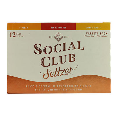 Social Club Hard Seltzer Variety Pack