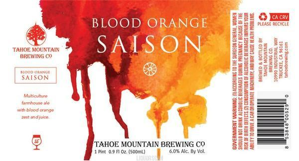 Tahoe Mountain Blood Orange Saison
