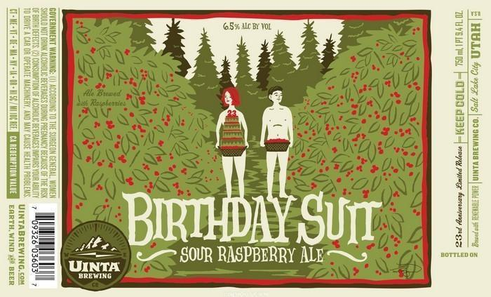 Uinta 23rd Birthday Suit Sour Raspberry Ale