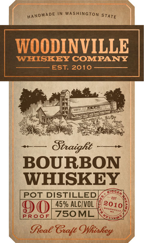 Woodinville Straight Bourbon 90 Proof Whiskey