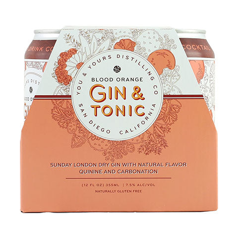 You & Yours Blood Orange Gin & Tonic