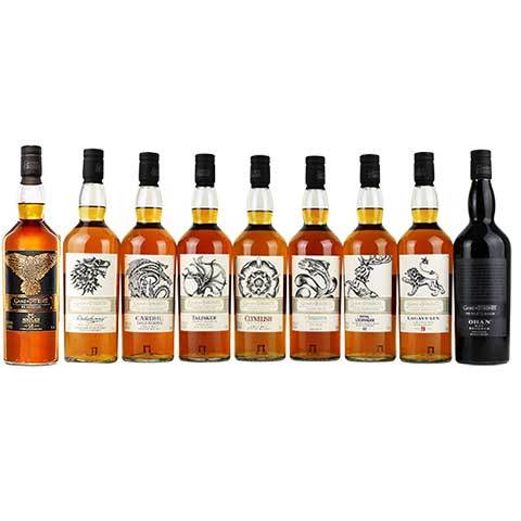 Game Of Thrones Nine Bottles Single Malt Scotch Whisky 9 Pack