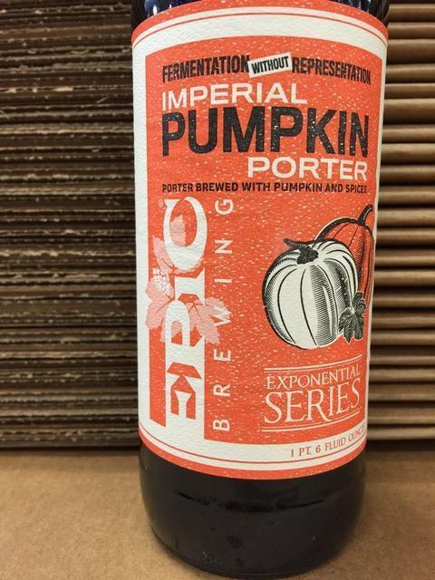 Epic Fermentation Without Representation Imperial Pumpkin Porter 2015