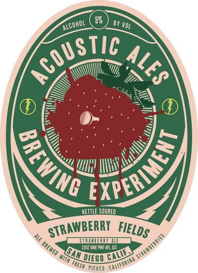 Acoustic Ales Strawberry Fields Kettle Soured Blonde Ale