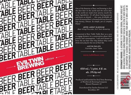 Evil Twin Table Beer
