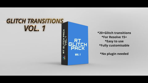 Essential Glitch transitions for Resolve 15+/16 - RESOLVE TRANSITIONS