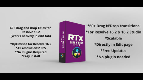RTx Drag N Drop Transitions for Resolve 16.2 - RESOLVE TRANSITIONS