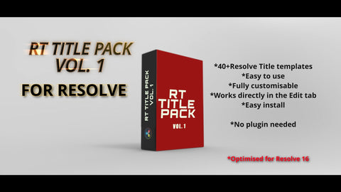 RT Title & Transitions Pack 1 - RESOLVE TRANSITIONS