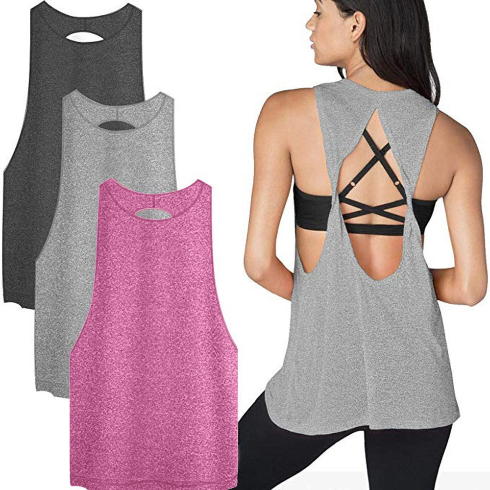 Workout Backless Loose Shirt