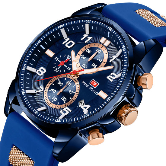 Blue Sports Watch | Silicone