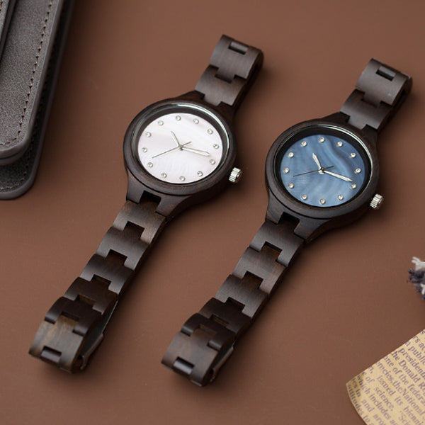 Women Wood Watch - Perfect Gift for Girlfriend or Wife