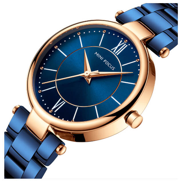 Women Waterproof Wrist Watch - Blue