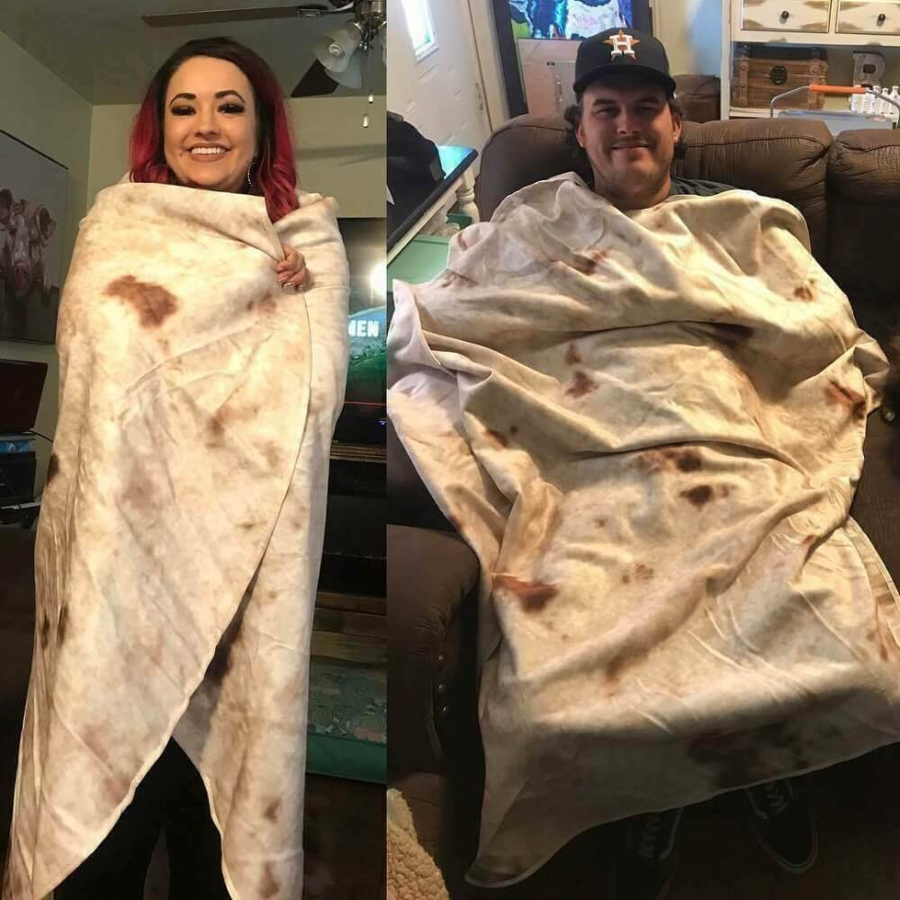 OFFICIAL BURRITO BLANKET - GIANT BURRITO / TORTILLA BLANKET