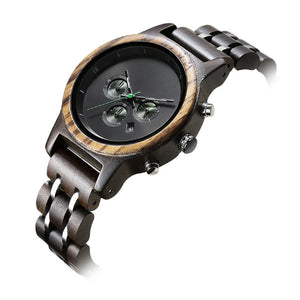 Men's Classic Wood Watch - Perfect Gift for Boyfriend or Husband