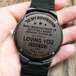 Ebony Wooden Watch - To My Boyfriend