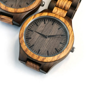 Zebra Wooden Watch - To My Son