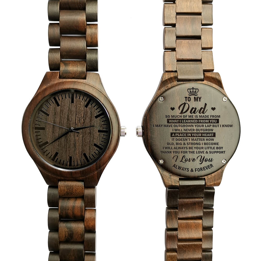 Men's Quartz Wooden Watch|Personalize Watch|Gifts for Dad