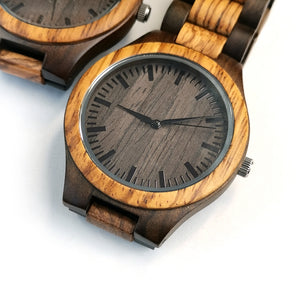 Zebra Wood Watch | To My Son Watch