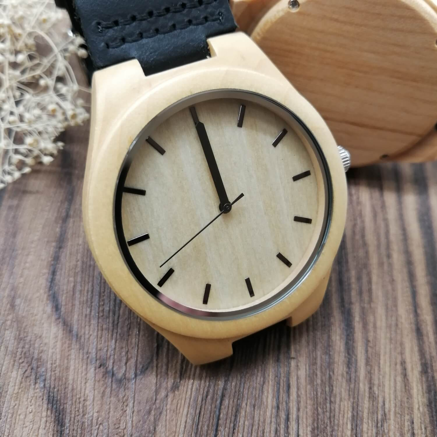 To My Husband Wooden Watch - Personalized Gift
